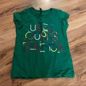 United Colors of Benetton green t shirt size XXS